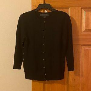 Express silk/cashmere 3/4 sleeve cardigan